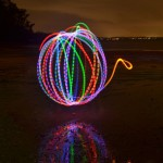 Light Painting at Wellington Point